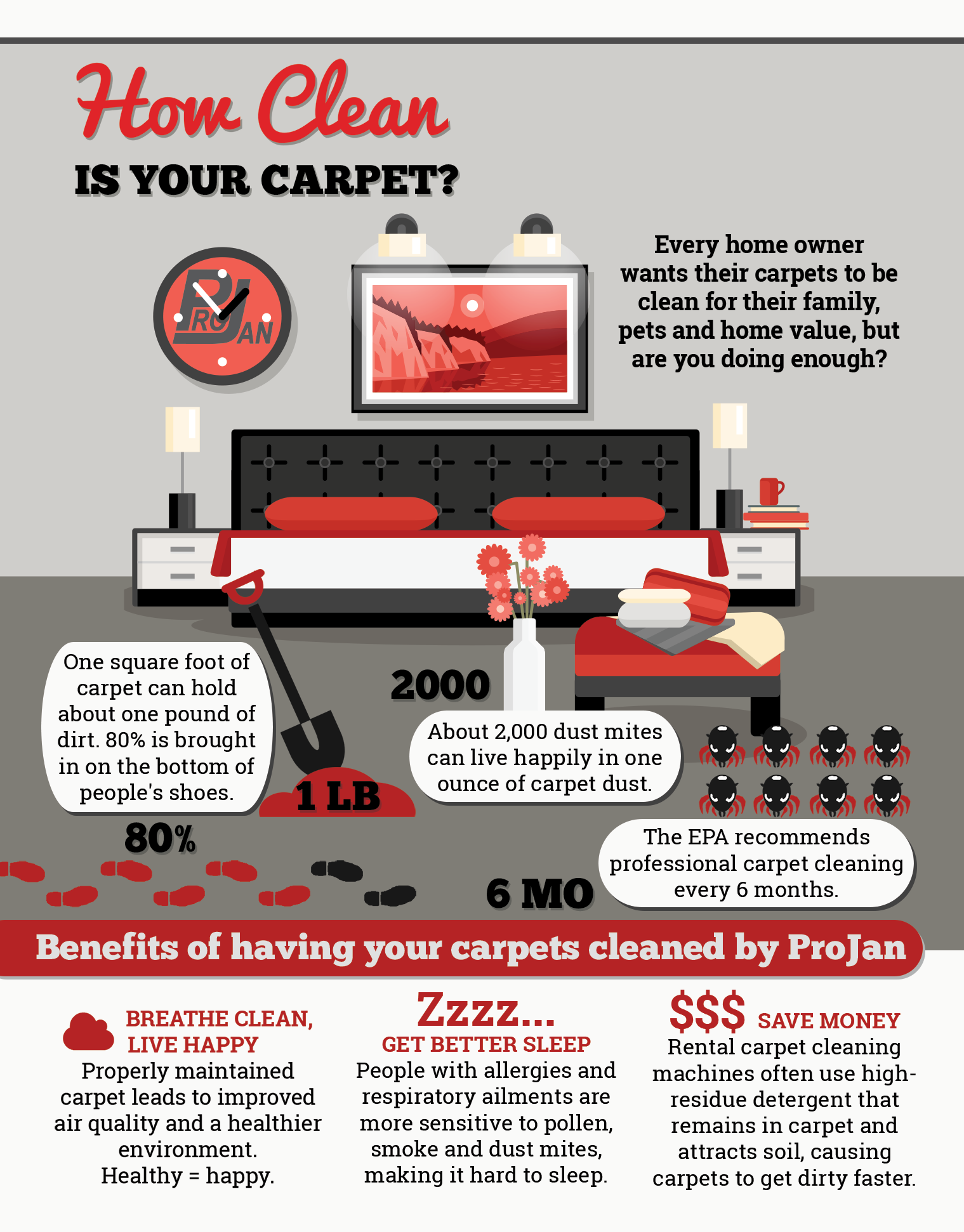 How Clean Are Your Carpets - ProJan Cleaning and Restoration